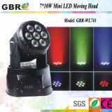 7PCS 10W Mini LED Moving Head Light for Stage Light