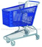 Large Capacity Plastic Material Shopping Trolley for Grocery