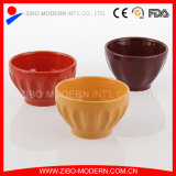 Ribbed Icecream Bowl in Different Colors