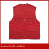 2017 Red Color Man Sleeveless Cheap Safety Stock Vest, Work Vest (V06)