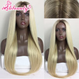 100% Human Hair / Front Lace Hair Wig with Dark Roots