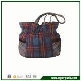 Retro Colorful Promotional Checkered Canvas Handbag