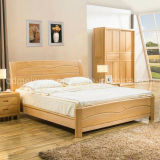 Solid Wooden Bed Modern Double Beds (M-X2226)
