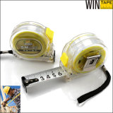 High Quality Flexible Steel Yellow Translucent Tape Measure (ST-tr002)