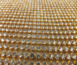 Shiny Garment Decoration Golden Round Rhinestone Crystals Roll
