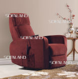 Red Color Fabric Electric Massage Recliner Chair