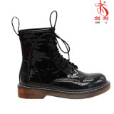 Colorful Lace-up PU Leather Ankle Lady Worker Boots (AB633)