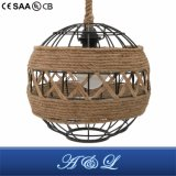 Vintage Rope Cord Artistic Pendant Lamp for Living Room