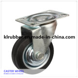 Plate Rubber Caster Wheel Without Brake