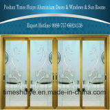 Good Quality Aluminum Decorated Sliding Doors with Double Glazing