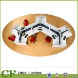 High Quality Round Modern Design 6 Person Office Furniture Workstation (CD60-G002)