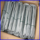 Anti Rust Bright Galvanized U SOD Staples / Fabric Pins Turf Staples