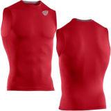Football Heatgear Sonic Red Sleeveless Compression T-Shirt (SRC66)