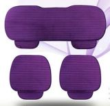 Purple Ergonomic Comfortable PU Leather Car Seat Cushion Seat Cover Leather Seat Cushion