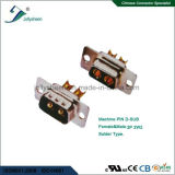 D-SUB  Machine Pin 2p 2W2 Soldering Type Male and Female