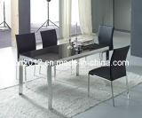 Modern Tempered Glass Top Dining Table Sets (CT-98 CY-115)