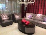 Italian Design Nubuck Leather Fabric Upholstered Livingroom Furniture Series
