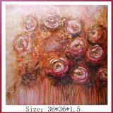Abstract High Quality Handpainted Modern Red Rose Flower Oil Painting Designs (LH-700633)