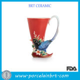 Boot with Bird Tail Handle Porcelain Vase