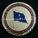 Factory Customized Shiny Gold Metal Coins with Diamond Edges