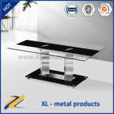 Modern Glass Top and Metal Stand Coffee Table