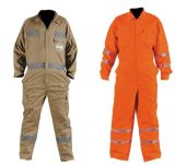 100% Cotton Safety Relfective Coveralls with Hi-Vis Tape