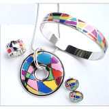 Quality Fine Jewelry 925 Silver Jewelry Set Polish Enamel