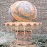 Round Ball Stone Carving Water Fountain