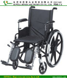 Deluxe Manual Steel Wheelchair with Calf Pad (1216)
