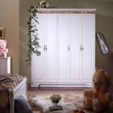 White Painted Russian Double Door Wardrobe
