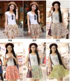 Wholesale Hot Sale Meadow Print Women Mini Chiffon Skirt
