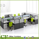 Office Furniture Wooden Table Call Center Cubicles 6 Seats Workstation