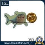 Offset Printing Metal Lapel Pin in Fish Shape
