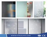 Figured Wired Pattern/Acid Etched/Sandblasting/Decoration/Tempered Shower Door/Window/Vacuum/Sheet/Glass Block Brick Glass