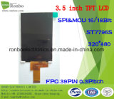 "3.5"" 320X480 MCU 39pin TFT LCD Display, Option Touch Screen"