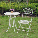Metal Patio Set Kd Table with Folding Chair