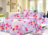 Poly/Cotton Printed King Fitted Bedspread Patchwork Bedding Set T/C50/50