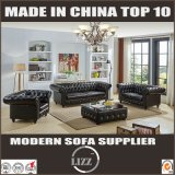 Chesterfield Design Combination Leather Sofa for Living Room