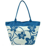 Folding Polyester Summer Beach Tote Bag with Lining