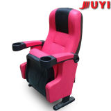 Juyi Company Reasonable Price Leather Cover Commercial Furniture Tip up Plastic Arm Cup Holder Padded Folding Chair