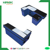 Supermarket Cash Desk and Stand with Convey Belt