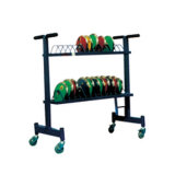 Track and Field Equipment Discus Carrying Cart with Wheels