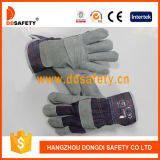 Ddsafety 2017 Cow Split Leather Stripe Cotton Back Past Cuff