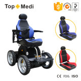 Folding Backrest Detachable Reclining Seat Stairs Climbing Electric Wheelchair