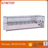 China Single-Temperature Refrigerated Display Cooler Fruit Counter Top Salad Bar