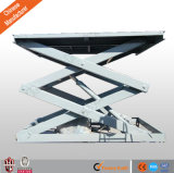 Stationary Hydraulic Scissor Lift Platform for Cargo Be Used in Warehouse