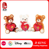 Three Color Customized Stuffed Soft Plush Teddy Bear Heart Kids