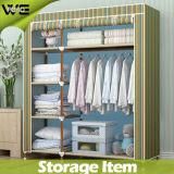 Bear Heavy Items Steel Bedroom Furniture Fabric Simple Wardrobe