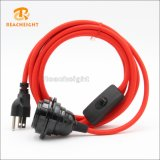 UL Plug Cord Set with Switch and 2 Shade Ring Lampholder