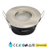 Die-Cast Aluminum GU10/LED Module IP65 LED Downlight for Bathroom